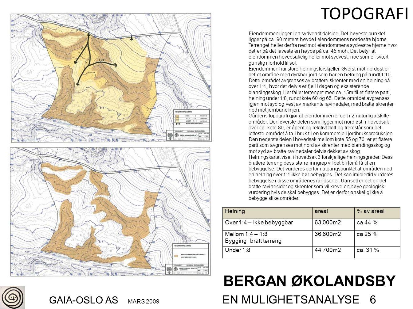 BERGAN ØKOLANDSBY GAIA-OSLO AS MARS 2009 EN MULIGHETSANALYSE 6