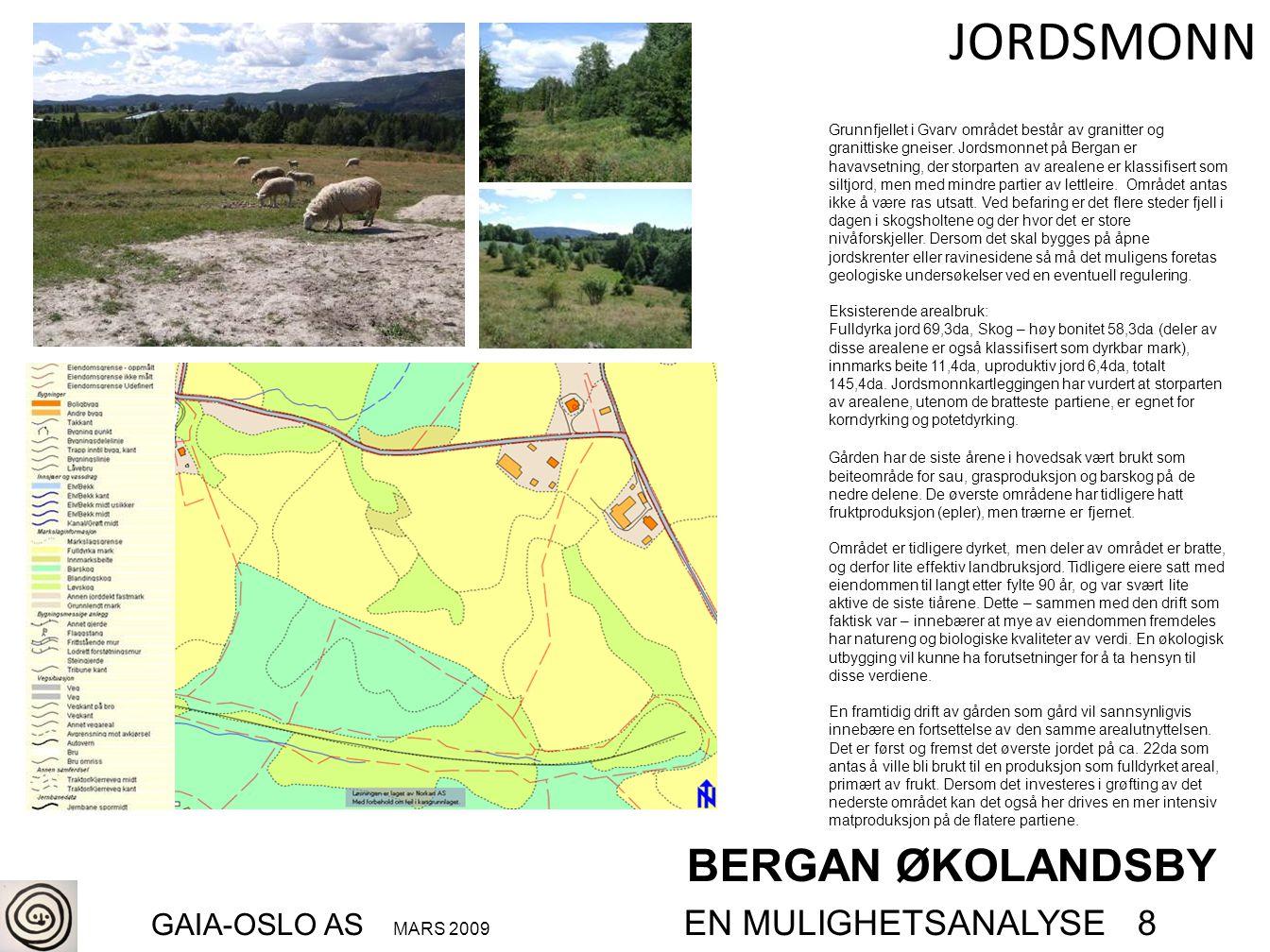 BERGAN ØKOLANDSBY GAIA-OSLO AS MARS 2009 EN MULIGHETSANALYSE 8