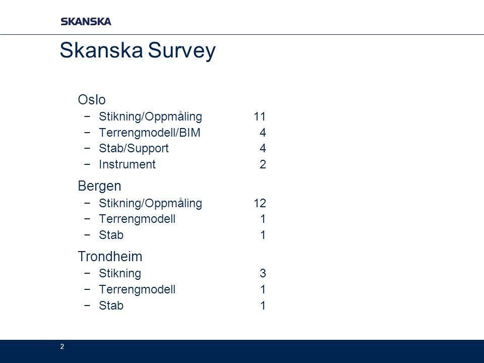 Skanska Survey Oslo Bergen Trondheim Stikning/Oppmåling 11