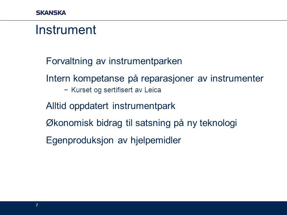 Instrument Forvaltning av instrumentparken