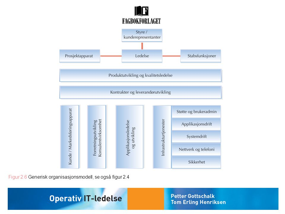 Figur 2.6 Generisk organisasjonsmodell, se også figur 2.4