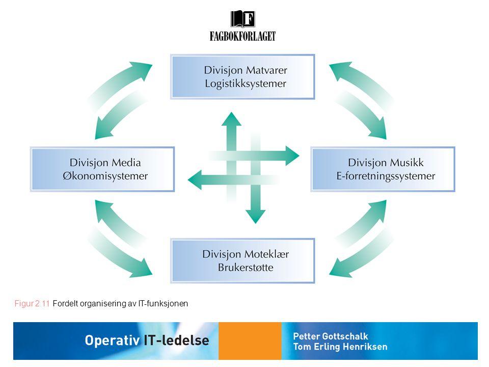 Figur 2.11 Fordelt organisering av IT-funksjonen