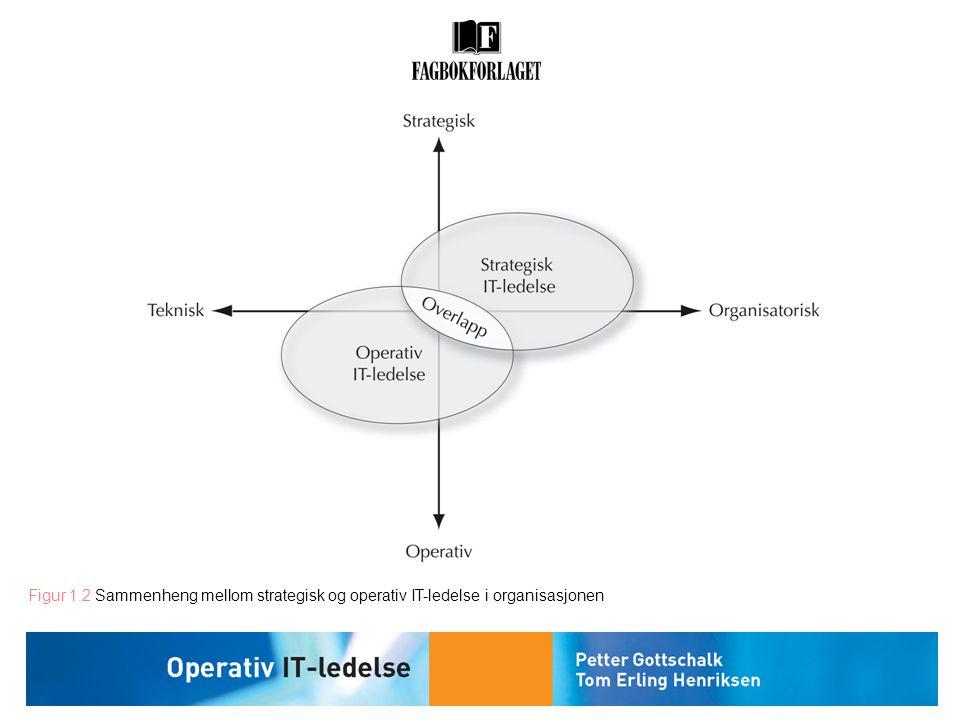 Figur 1.2 Sammenheng mellom strategisk og operativ IT-ledelse i organisasjonen
