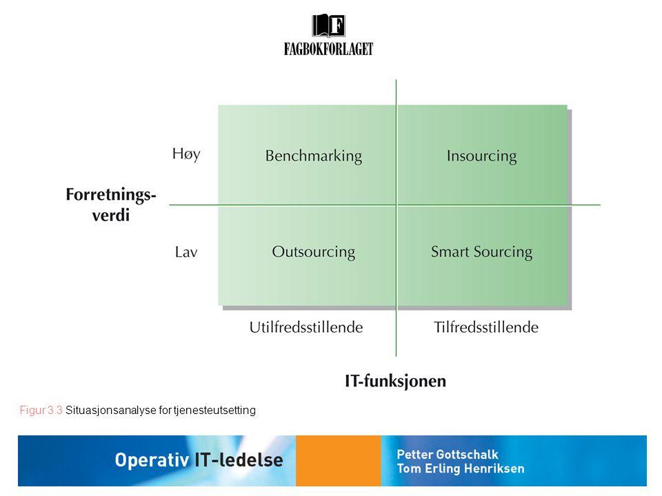 Figur 3.3 Situasjonsanalyse for tjenesteutsetting