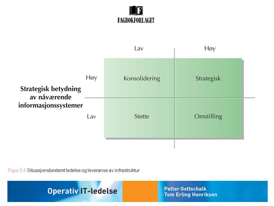 Figur 3.5 Situasjonsbestemt ledelse og leveranse av infrastruktur