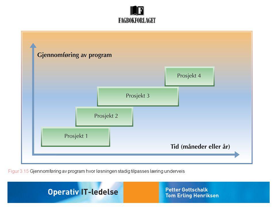 Figur 3.15 Gjennomføring av program hvor løsningen stadig tilpasses læring underveis