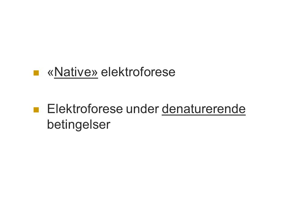 «Native» elektroforese