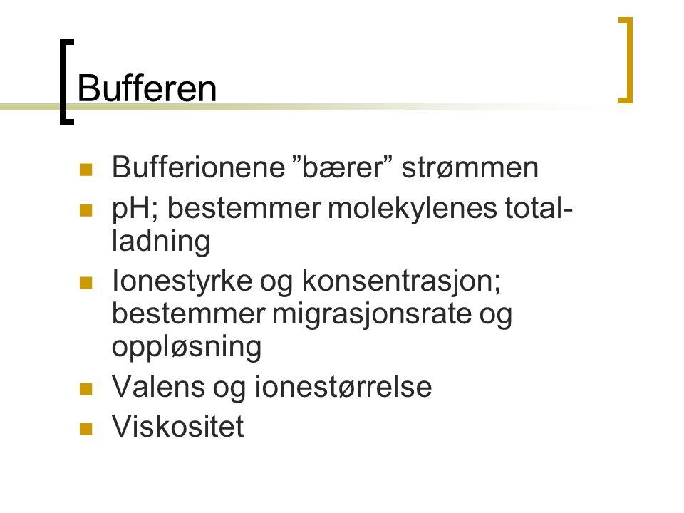 Bufferen Bufferionene bærer strømmen