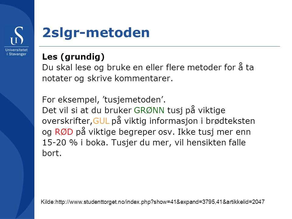 2slgr-metoden Les (grundig)