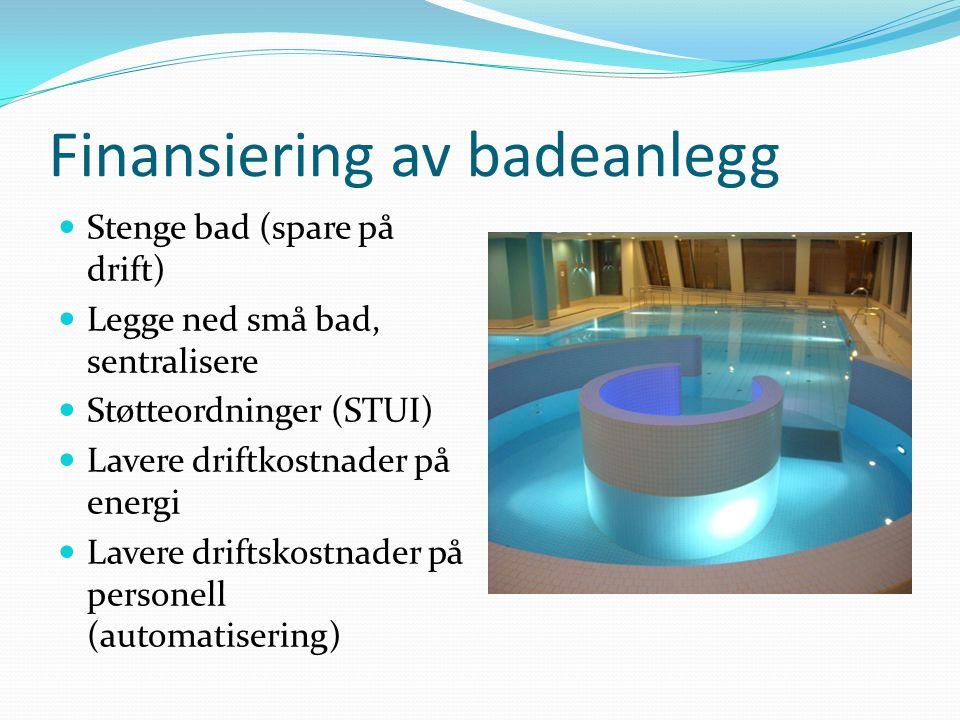 Finansiering av badeanlegg