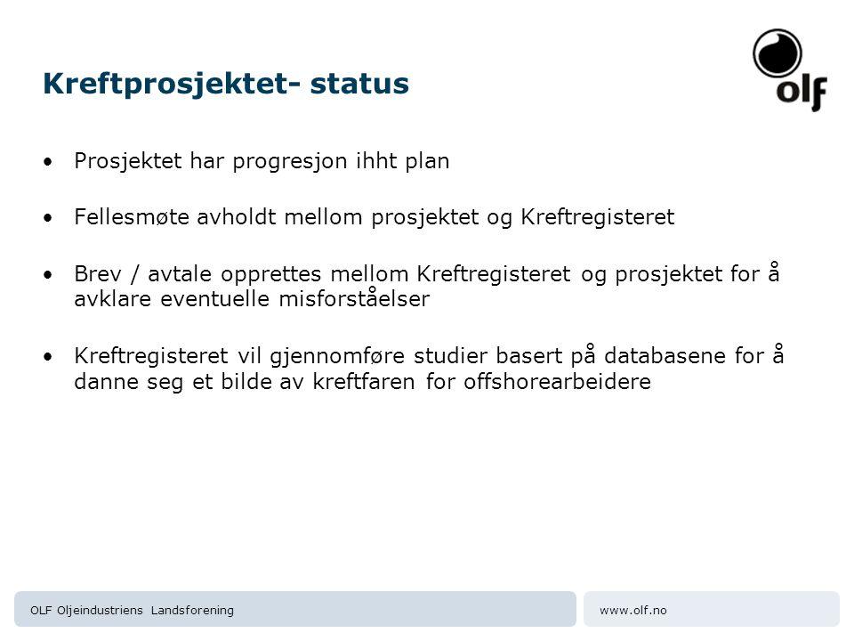 Kreftprosjektet- status