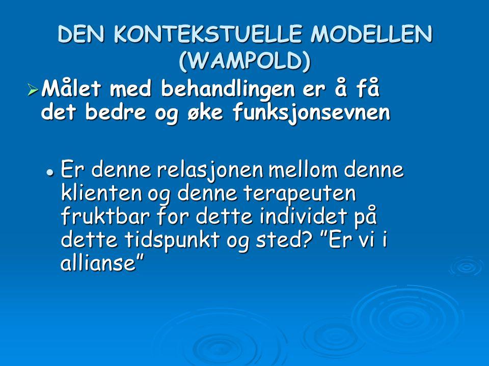 DEN KONTEKSTUELLE MODELLEN (WAMPOLD)