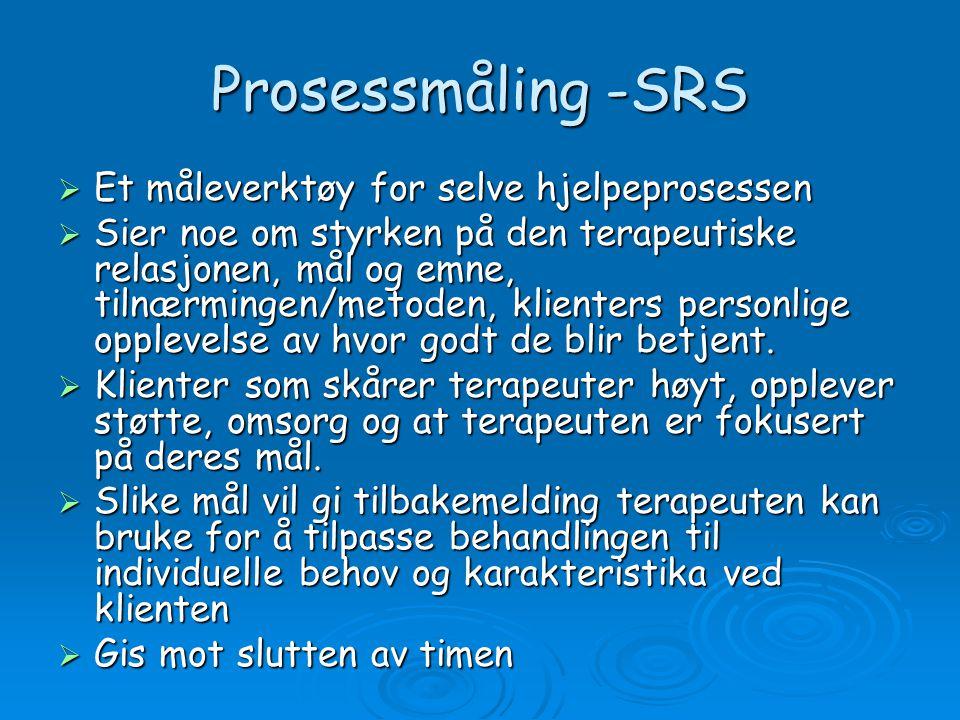 Prosessmåling -SRS Et måleverktøy for selve hjelpeprosessen