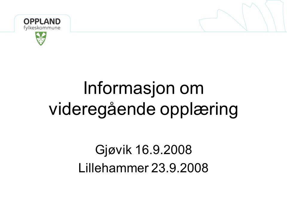 Informasjon om videregående opplæring