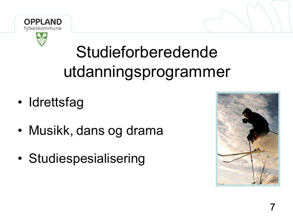 Studieforberedende utdanningsprogrammer