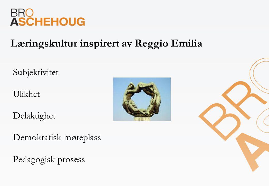 Læringskultur inspirert av Reggio Emilia