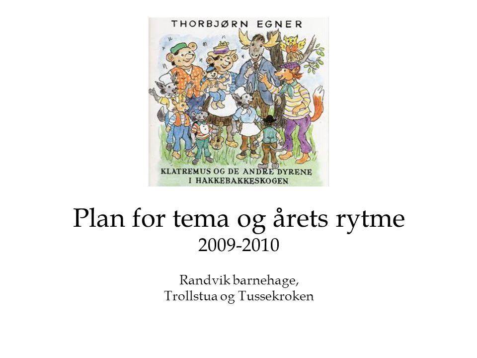 Plan for tema og årets rytme