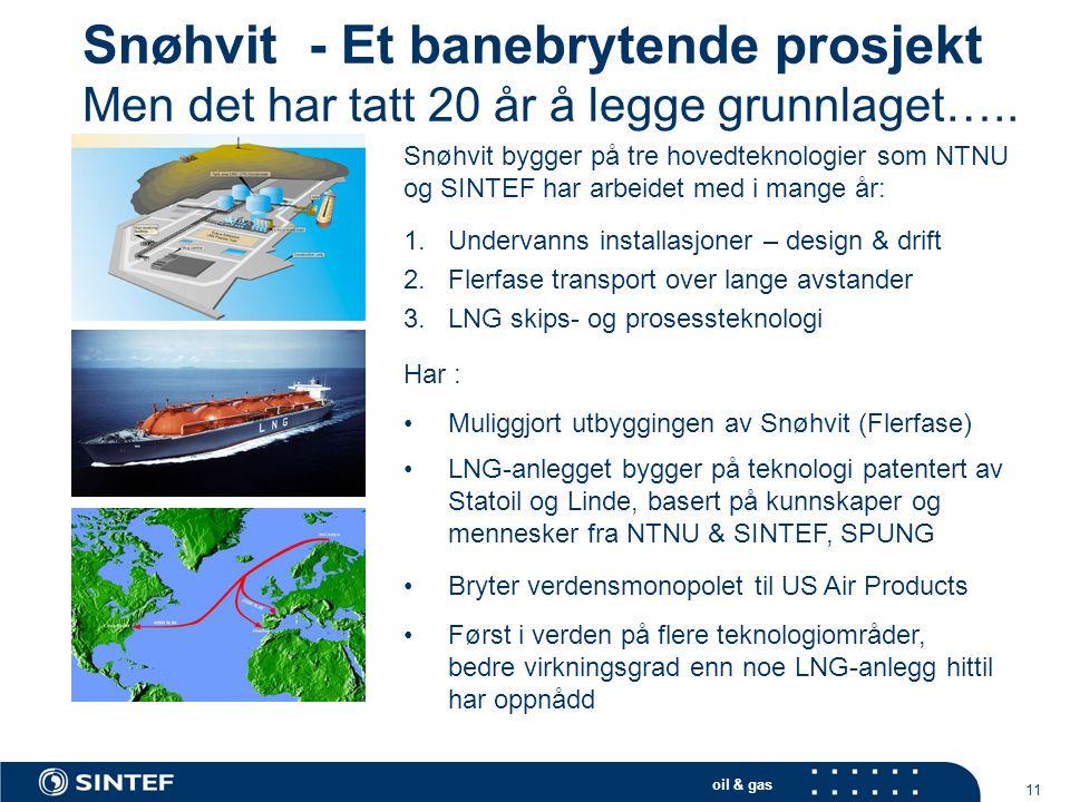 Snøhvit - Et banebrytende prosjekt Men det har tatt 20 år å legge grunnlaget…..
