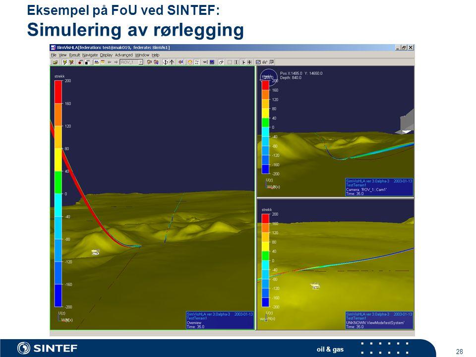 Eksempel på FoU ved SINTEF: Simulering av rørlegging