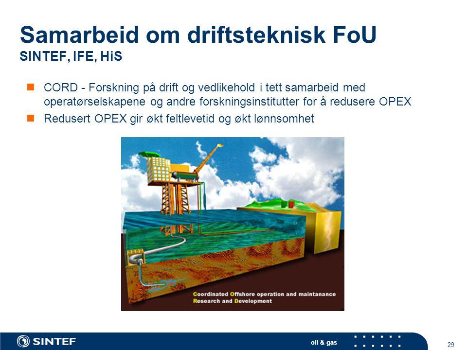 Samarbeid om driftsteknisk FoU SINTEF, IFE, HiS