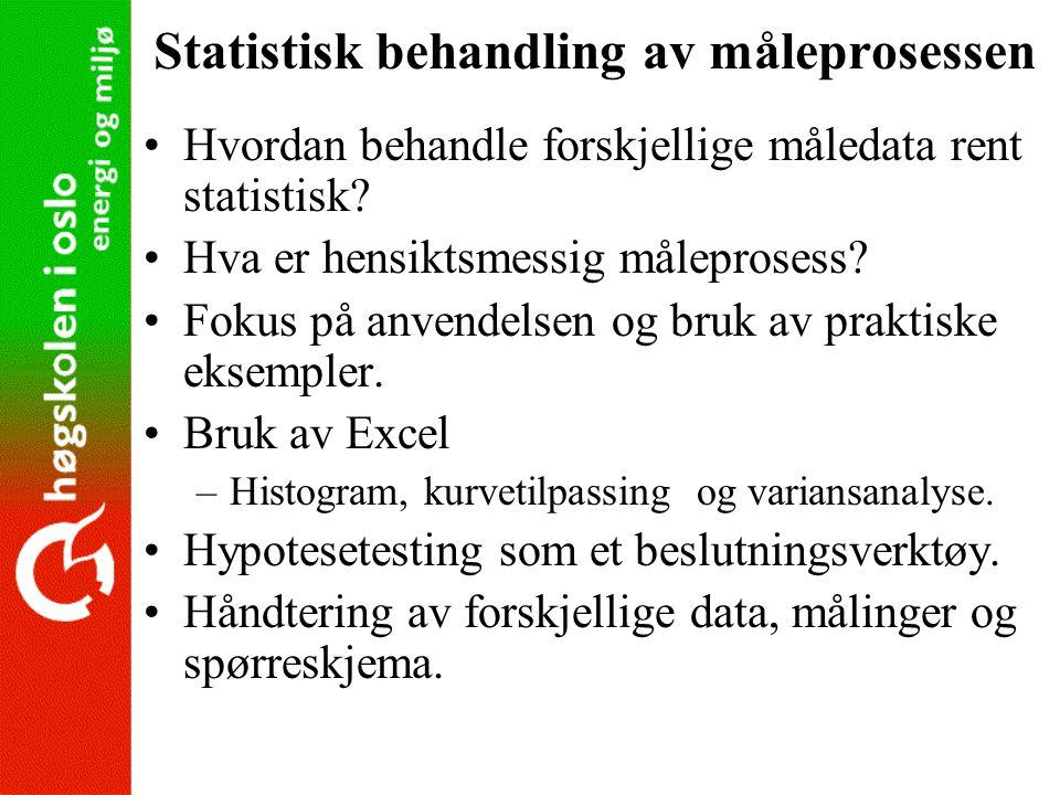 Statistisk behandling av måleprosessen