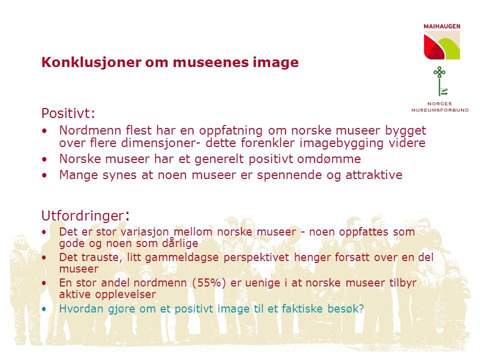 Konklusjoner om museenes image