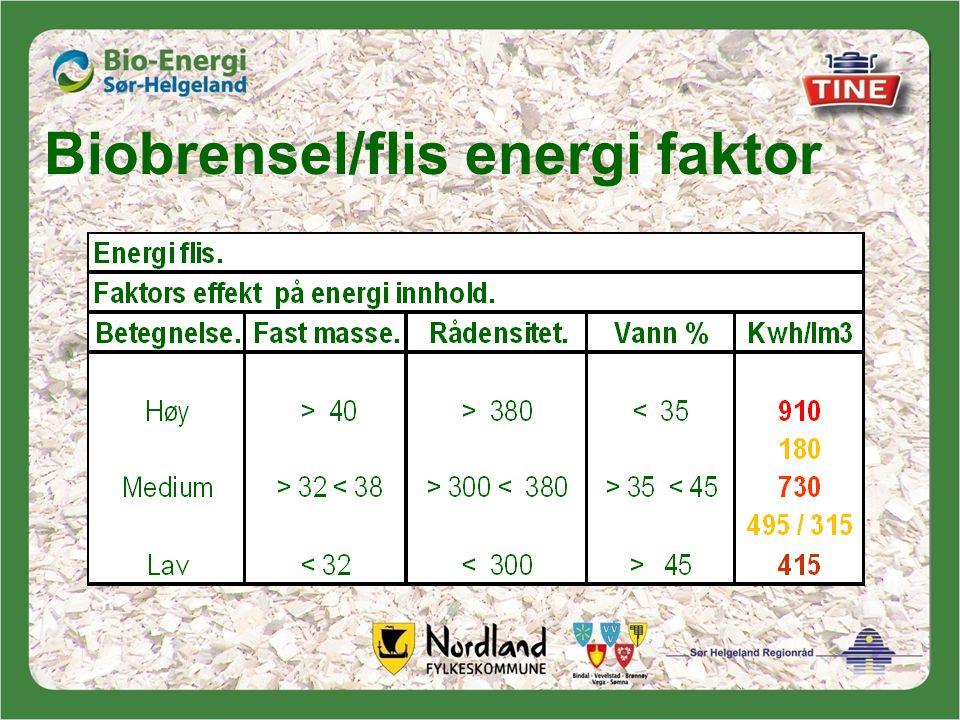 Biobrensel/flis energi faktor