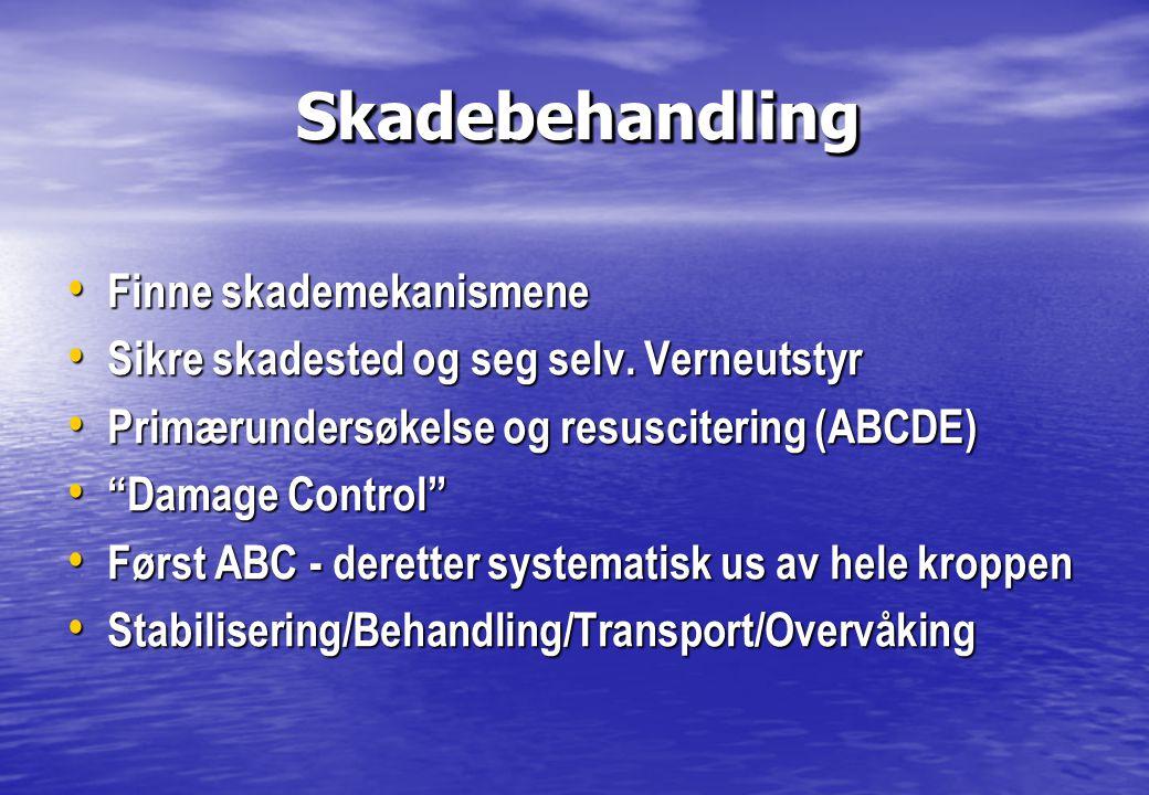 Skadebehandling Finne skademekanismene
