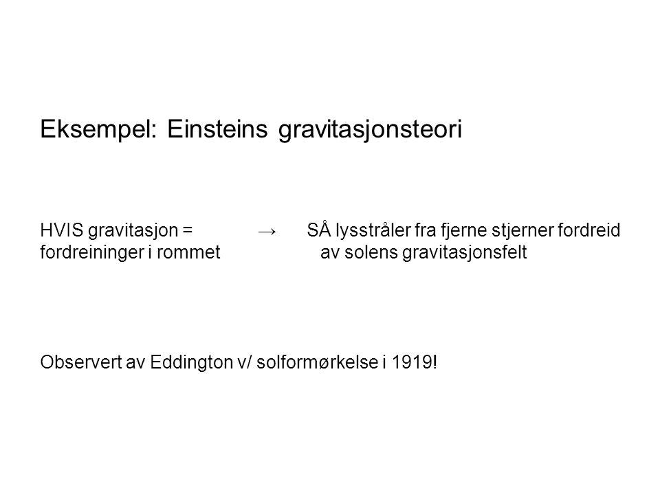 Eksempel: Einsteins gravitasjonsteori