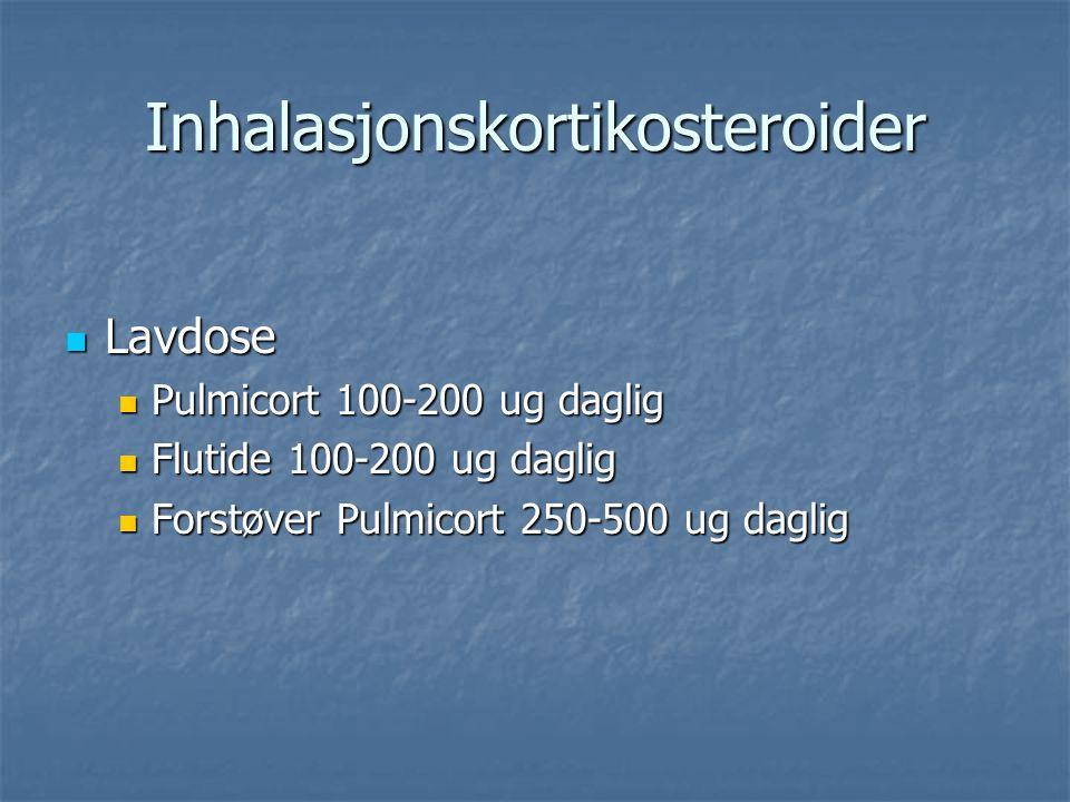Inhalasjonskortikosteroider