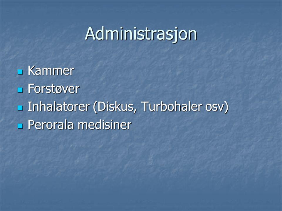 Administrasjon Kammer Forstøver Inhalatorer (Diskus, Turbohaler osv)