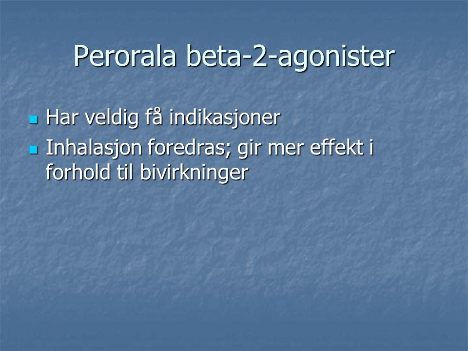 Perorala beta-2-agonister