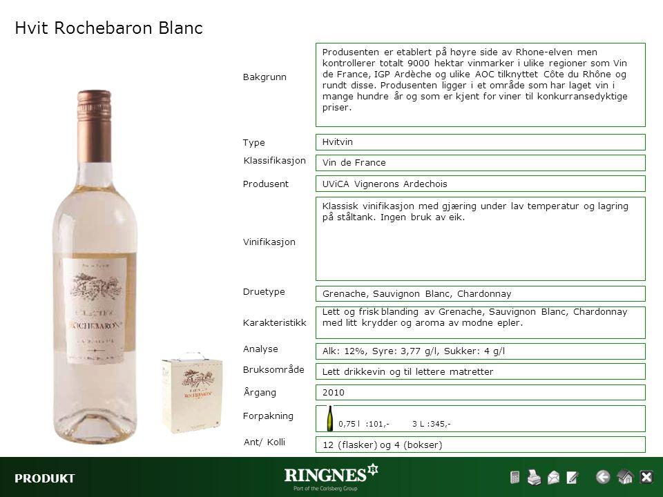 Hvit Rochebaron Blanc PRODUKT
