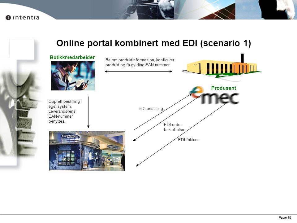 Online portal kombinert med EDI (scenario 1)