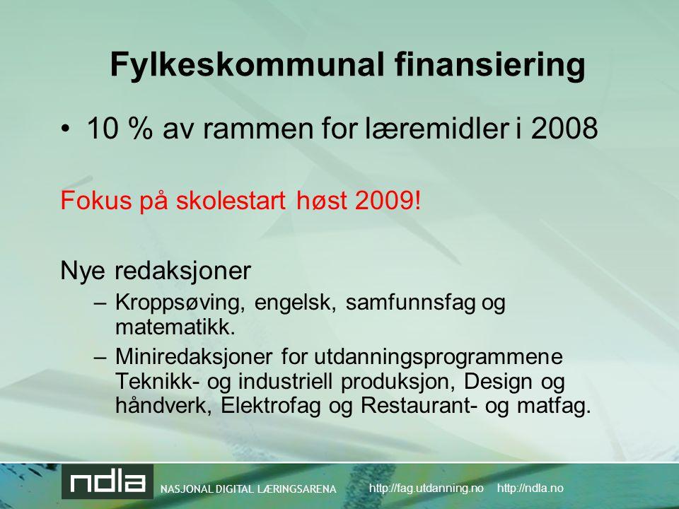 Fylkeskommunal finansiering