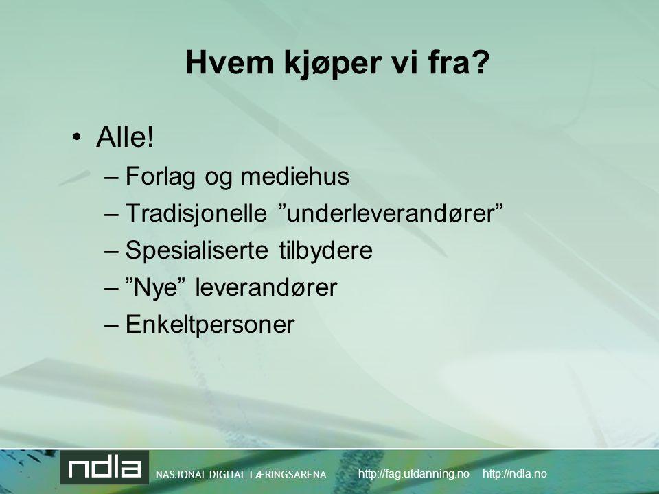 Hvem kjøper vi fra Alle! Forlag og mediehus
