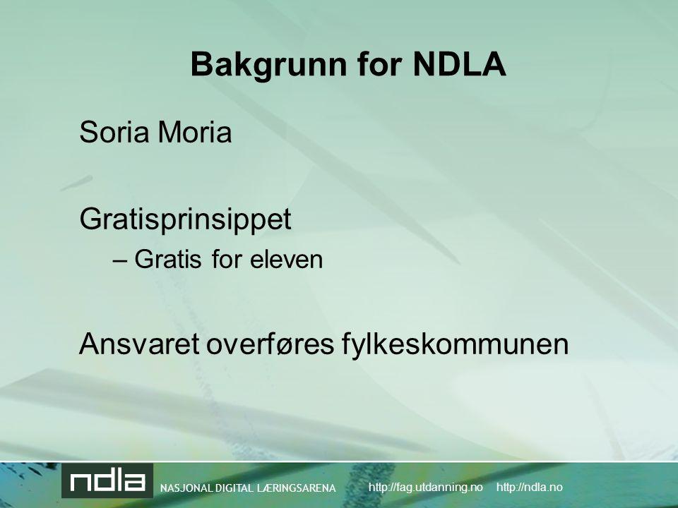 Bakgrunn for NDLA Soria Moria Gratisprinsippet