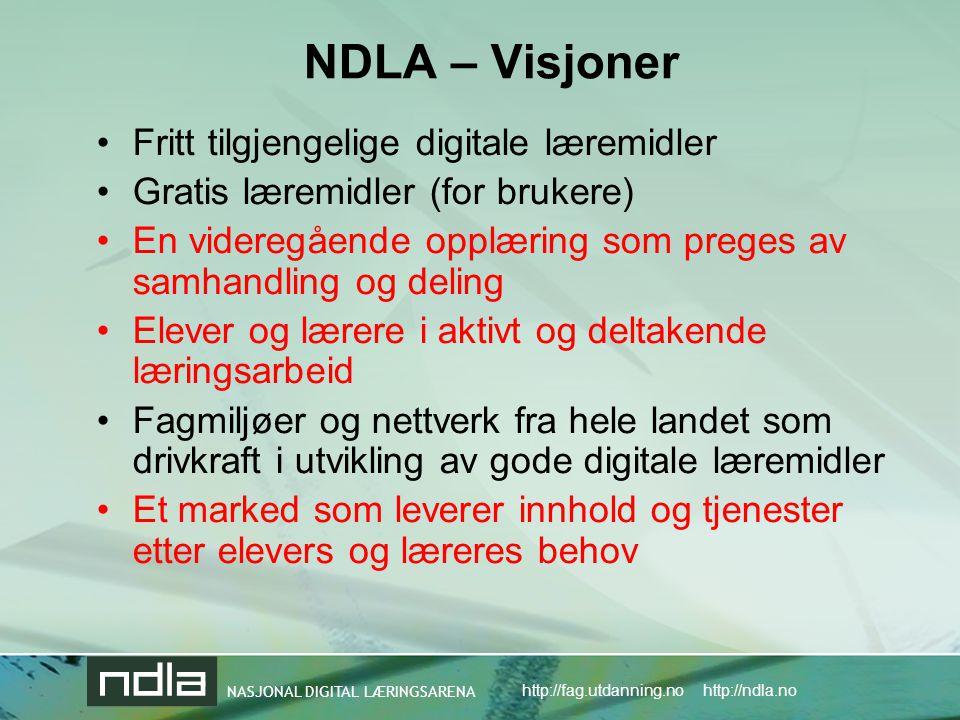 NDLA – Visjoner Fritt tilgjengelige digitale læremidler