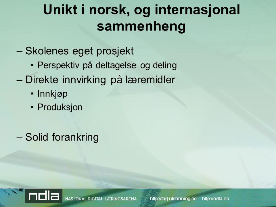 Unikt i norsk, og internasjonal sammenheng