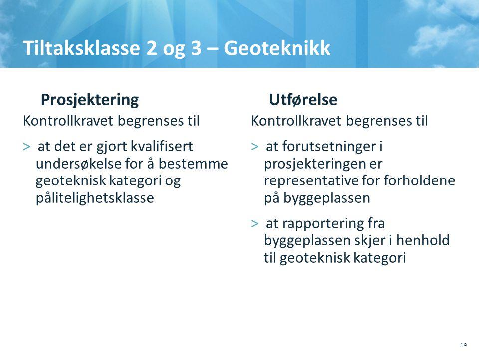 Tiltaksklasse 2 og 3 – Geoteknikk