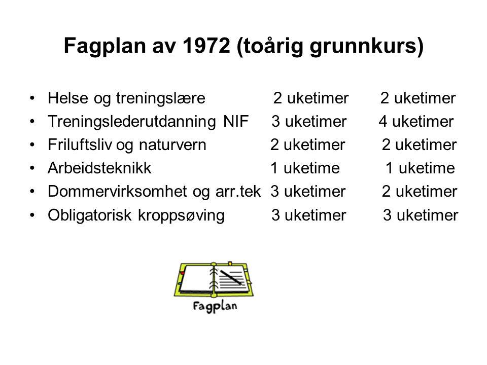 Fagplan av 1972 (toårig grunnkurs)