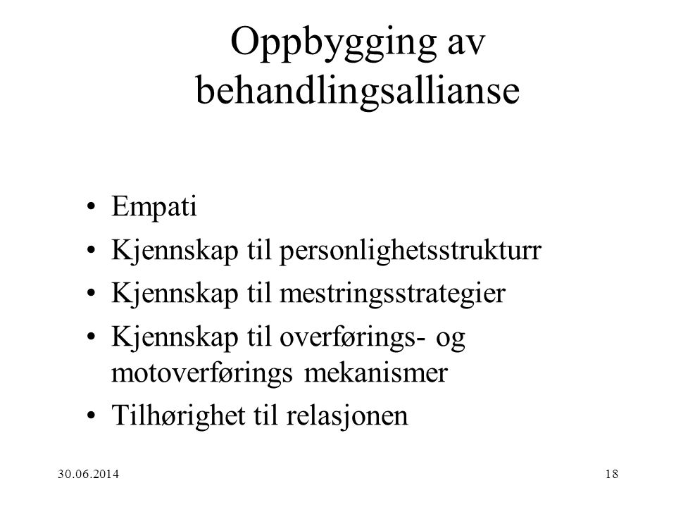 Oppbygging av behandlingsallianse