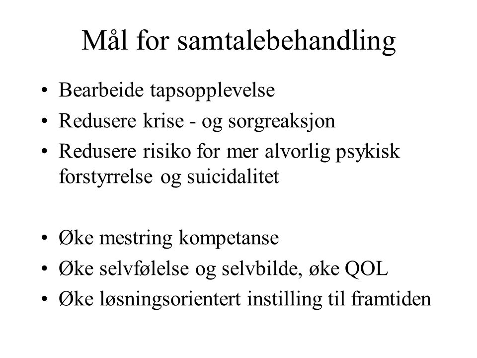 Mål for samtalebehandling