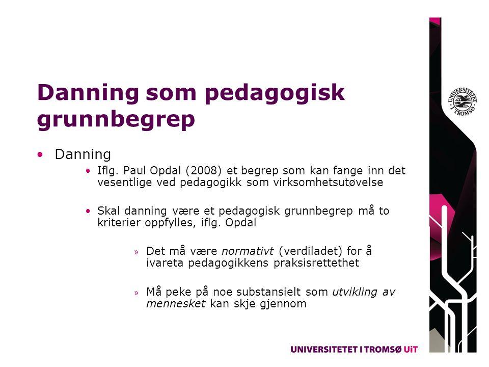 Danning som pedagogisk grunnbegrep