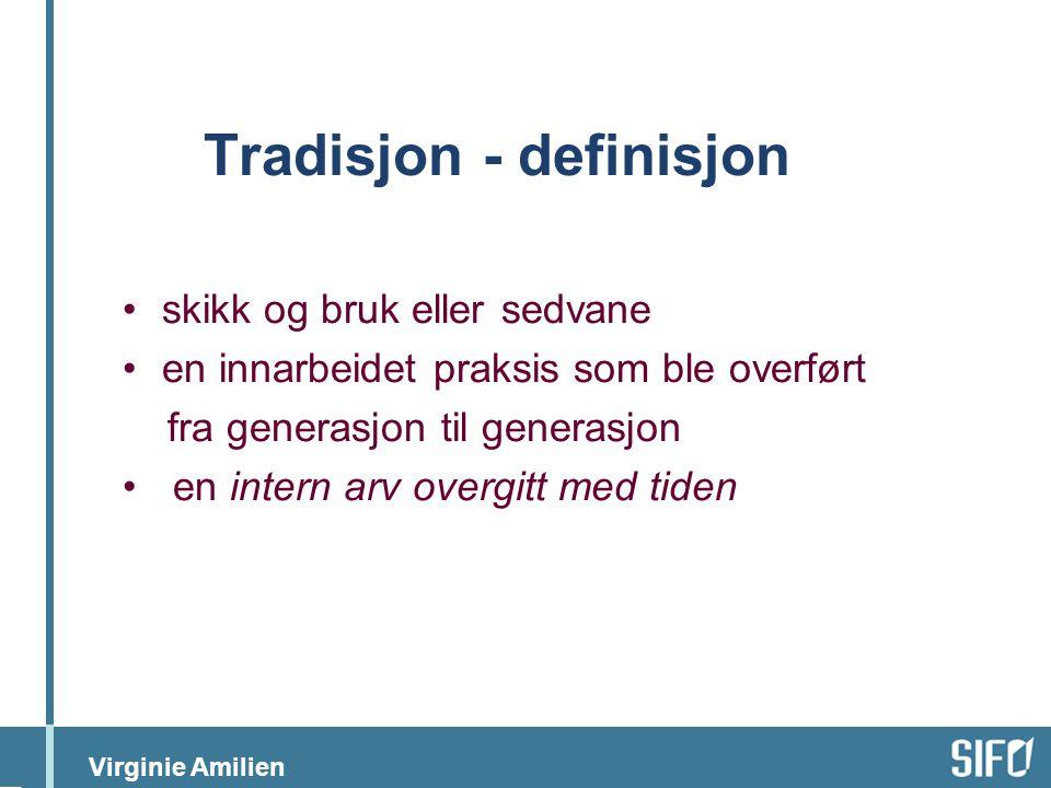 Tradisjon - definisjon