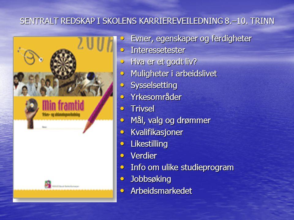 SENTRALT REDSKAP I SKOLENS KARRIEREVEILEDNING 8.–10. TRINN