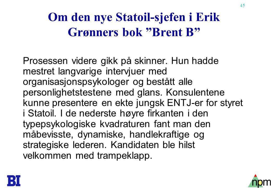 Om den nye Statoil-sjefen i Erik Grønners bok Brent B