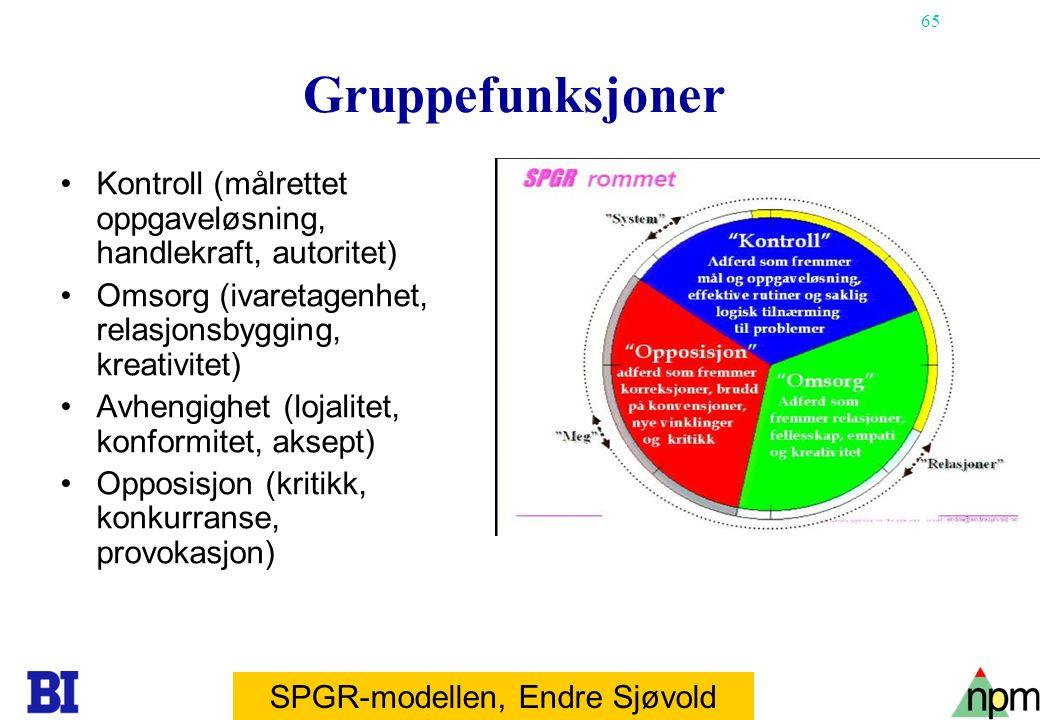 SPGR-modellen, Endre Sjøvold