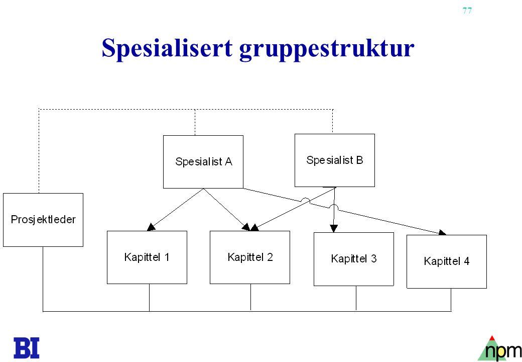 Spesialisert gruppestruktur