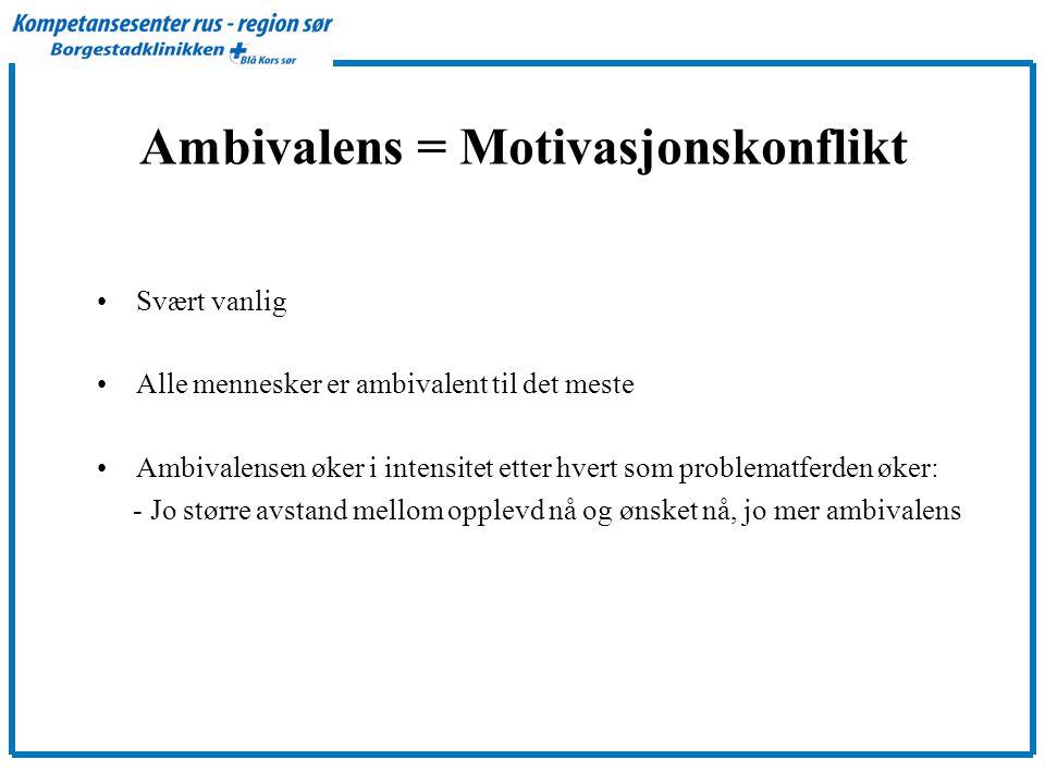 Ambivalens = Motivasjonskonflikt